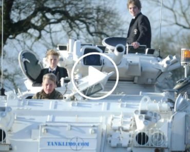 Dad Drops Kids To School In Army Tanks 6