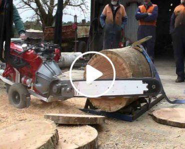 Australian V8 Powered Chainsaw 4