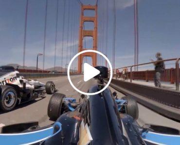 Indycars Over The Golden Gate Bridge 9
