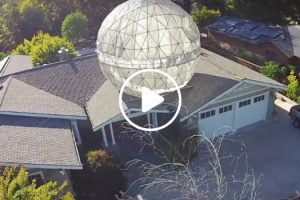 """Coolest Dad Ever Built a 400 lb """"Star Wars"""" Death Star Above His House 11"""