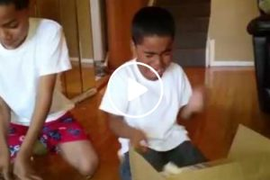 Dad Pranks Sons With Fake Gifts 11