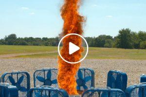 Fire Tornado In Slow Motion 11