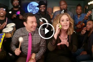 "Jimmy Fallon, Adele & The Roots Sing ""Hello"" With Classroom Instruments 11"