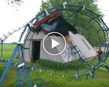 Guy Makes His Own Backyard Roller Coaster 4