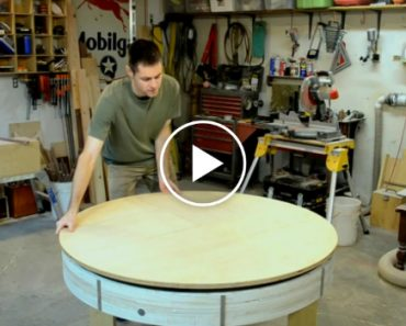 He Crafted This Small Wooden Table, But Watch What Happens When He Spins It Sideways 2
