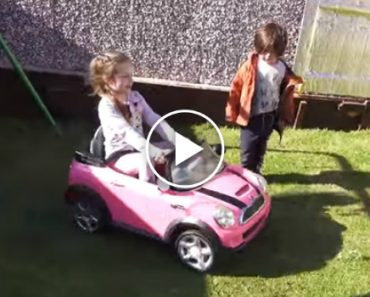 Dad Upgrades The Motor In His Daughter's Power Wheels And Can't Stop Laughing At The Result 8