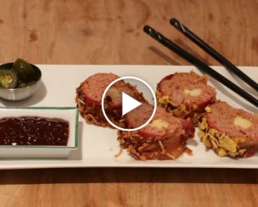 A Delicious Recipe For BBQ Bacon Sushi Rolls 1