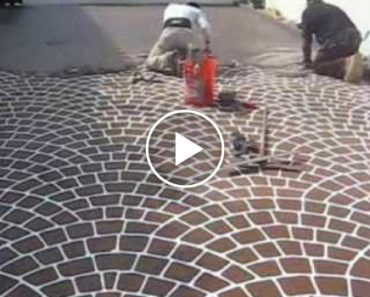 How To Transform Ordinary Concrete In a Beautiful Pattern With Stencil 8