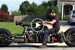 Insane Home Built Twin Turbo Hydrostatic Diesel AWD Motorcycle 10