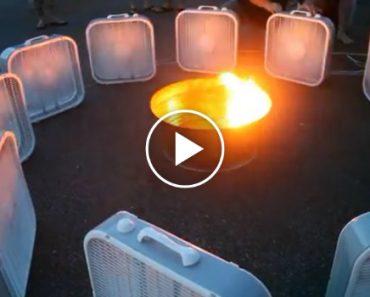 Watch What Happens When a Dozen Fans Surround a Fire Pit 8
