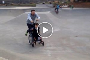 Dad Takes His Son With Cerebral Palsy To The Skate Park... And It Was a Huge Success! 9