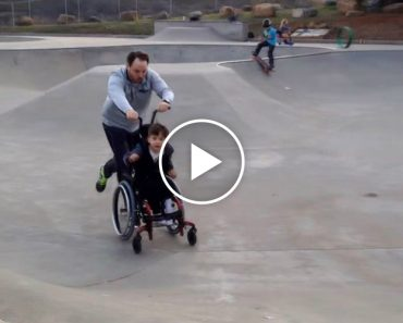 Dad Takes His Son With Cerebral Palsy To The Skate Park... And It Was a Huge Success! 1