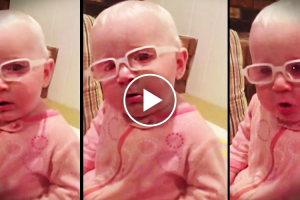 "Baby Sees For The First Time. When Mom Sings ""Amazing Grace"", Her Reaction Choked Me Up. 12"