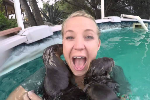 This Woman Jumped Into a Pool And Was Immediately Attacked… By So Much Cuteness! 12