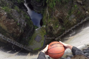 What Happens When You Drop a Basketball Off Of a Dam Is Surprisingly Awesome 12