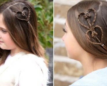 She Explains An Easy Way To Make Accent Hearts, Valentines Day Hairstyles 4