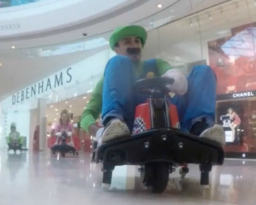 "World's Biggest ""Mario Kart"" Fans Race Through a Mall 2"