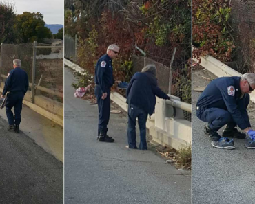 Firefighter Gives His Sneakers to Barefoot Homeless 4