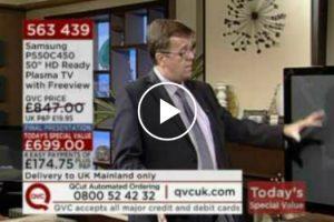 QVC Presenter Breaks TV While Showing It Won't Break 10