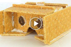 Google Cardboard Viewer Made Of Graham Crackers 12