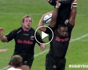 Rugby Player Displays Amazing Strength To Save His Team Mate 1