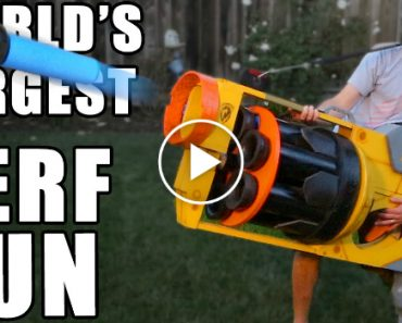 These Guys Built The World's Largest Nerf Gun And It Shoots Massive Darts At 40 MPH 2