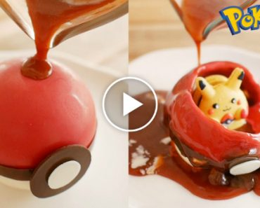 How To Make A PokeBall That Actually Has Pikachu In It. They Are Both Edible 5