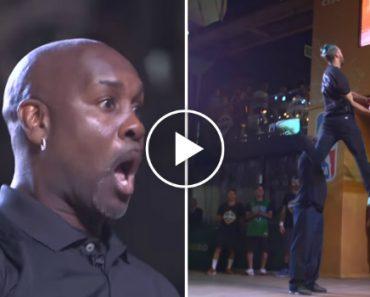 High-Flying Dunker Jordan Kilganon Shocks NBA Players With His Professional Dunking Skills 8