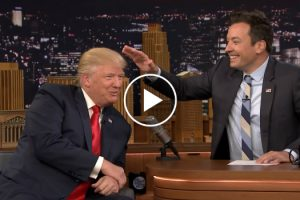 Watch The Moment Donald Trump Lets Jimmy Fallon Mess Up His Hair 10