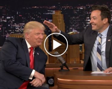 Watch The Moment Donald Trump Lets Jimmy Fallon Mess Up His Hair 1