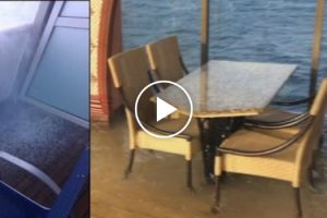 The Terrifying Moment a Cruise Ship Suddenly Tilted While In Ocean 10