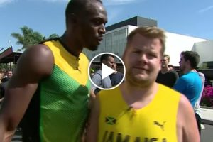 James Corden Challenges The Fastest Man Alive, Usain Bolt To A Foot Race 11