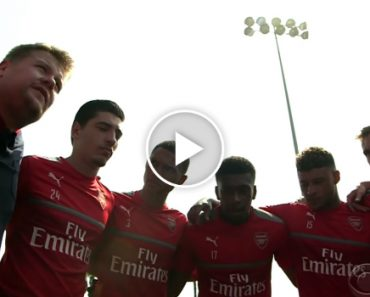 James Corden Takes Over as Coach of Arsenal F.C. 4