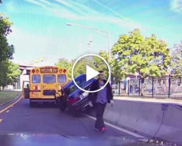 This Is What Instant Karma Looks Like When You Try To Cut Off A Bus Full Of Children 4