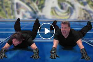 Tom Cruise Acts Out Memorable Scenes From His Long Film Career With James Corden 11