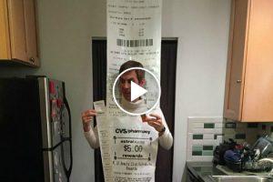 Man Went To CVS On Halloween As A 12-Foot Long CVS Receipt 11