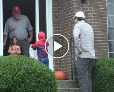 Guy Goes Trick-Or-Treating With Fake Kid 7