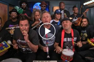 """Jimmy Fallon, Metallica & The Roots Sing """"Enter Sandman"""" With Classroom Instruments 12"""