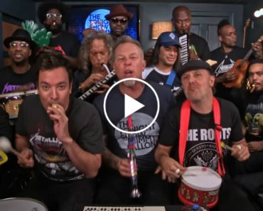 "Jimmy Fallon, Metallica & The Roots Sing ""Enter Sandman"" With Classroom Instruments 9"