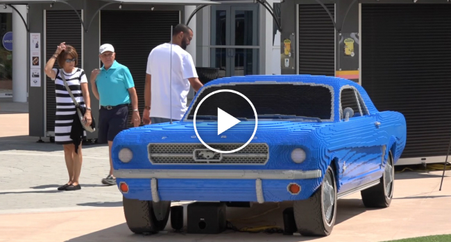 Full Size Lego Mustang Surprises Visitors At I Drive 360