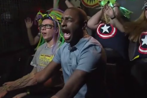 This Reporter Completely Fell Apart While Reviewing a Guardians Of The Galaxy Ride On Live TV 11