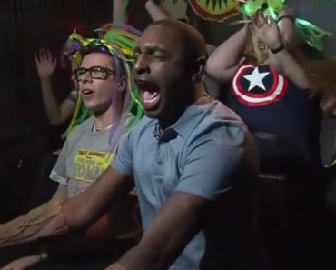 This Reporter Completely Fell Apart While Reviewing a Guardians Of The Galaxy Ride On Live TV 8