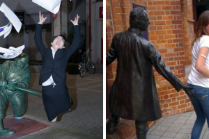 When People Took Posing With Sculptures To Another Level 11