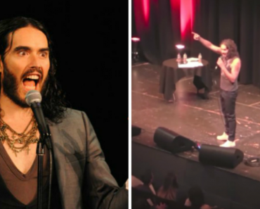 Russell Brand Gets Heckled During Show so He Turns On The Lights and Devours Him 2