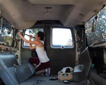 It Started As a Normal Van, But With a Bit Of Work, She Turned It Into a Cozy Home 8