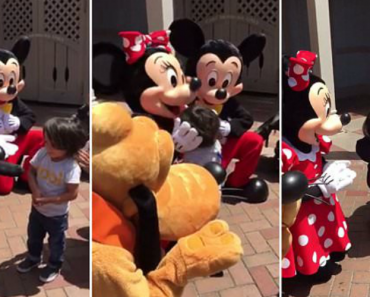 Heartwarming Moment Pluto, Minnie And Mickey Surprise Two-Year-Old Deaf Boy By Using Sign Language 1
