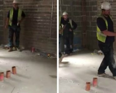 "This ""Plumber Vs Electrician"" Prank On a Building Site Is Brilliant But Oh So Dangerous 1"