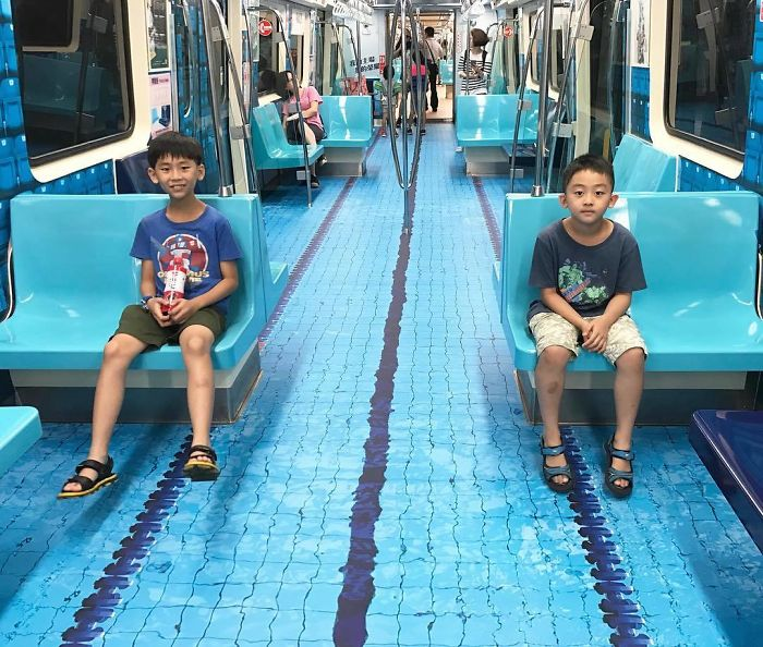 Taiwan Surprises Passengers By Turning Subway Cars Into Different Sport Venues For Upcoming Universiade 2
