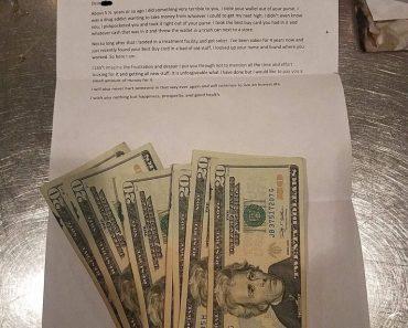 Honest Ex-Drug Addict Returns Stolen Money With a Heartfelt Letter 8