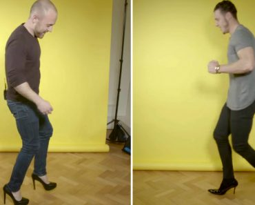 Men Try To Make It Through a Work Day Wearing Heels 6